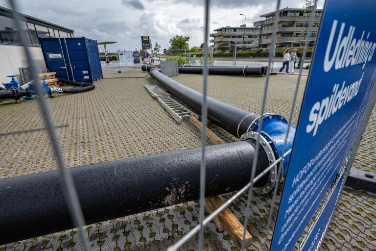 Från pumpstationen i Skovshoved var det tänkt att avloppsvattnet skulle pumpasut i Öresund.