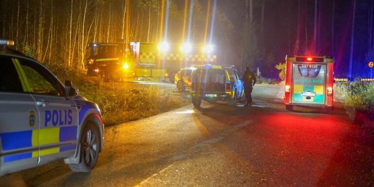 Man omkom efter olycka – bilen hittades 25 meter in i skogen