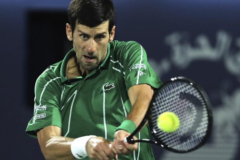 Novak Djokovic planerar för en tennisturné på Balkan i juni. Arkivbild.