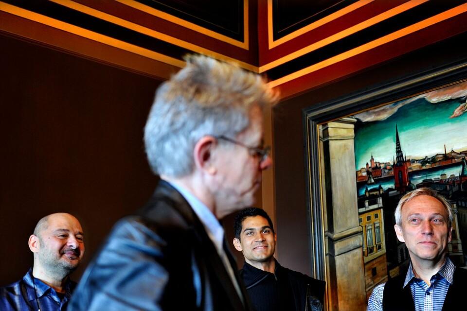 Kronos Quartet på plats i Stockholm för att ta emot Polarpriset 2011.