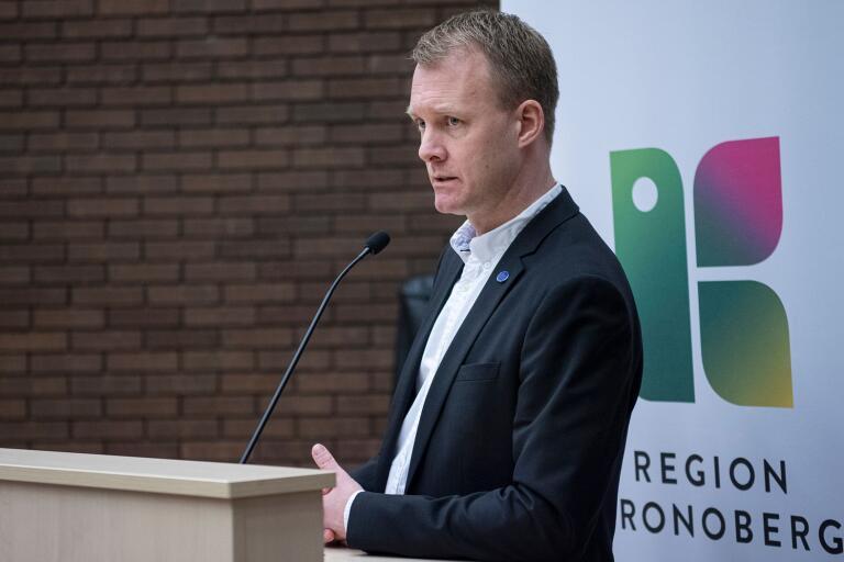 Regionstyrelsens ordförande Mikael Johansson (M).