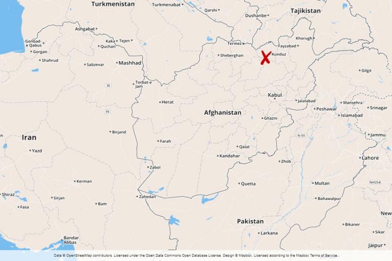 Kunduzprovinsen i Afghanistan.