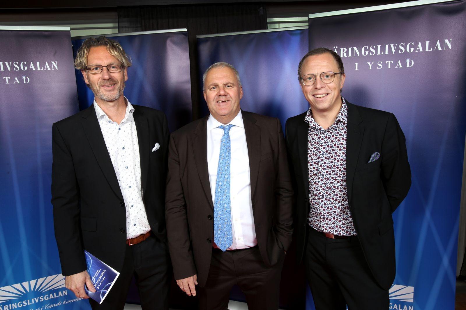 Roger Nilsson, Jonas Rosenkvist och Johan Österberg, Ystads kommun