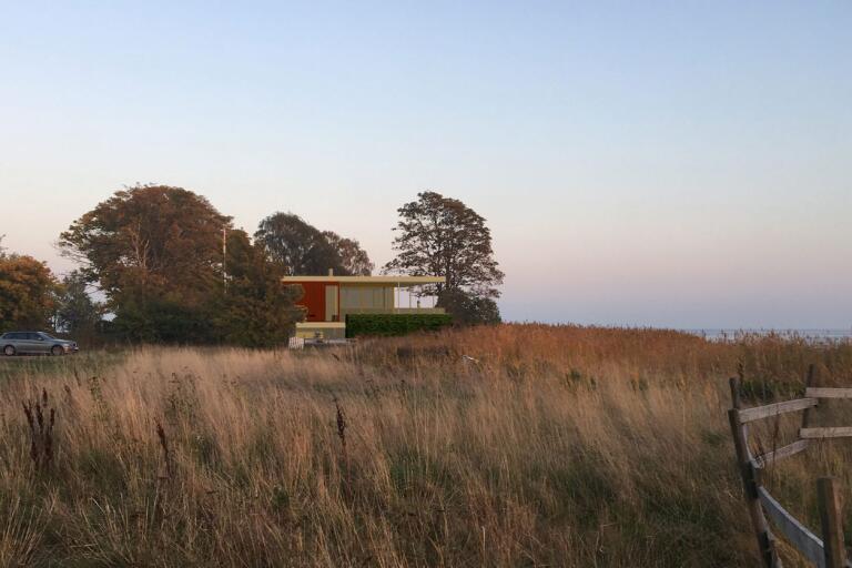 Den nya villan sedd från väster.