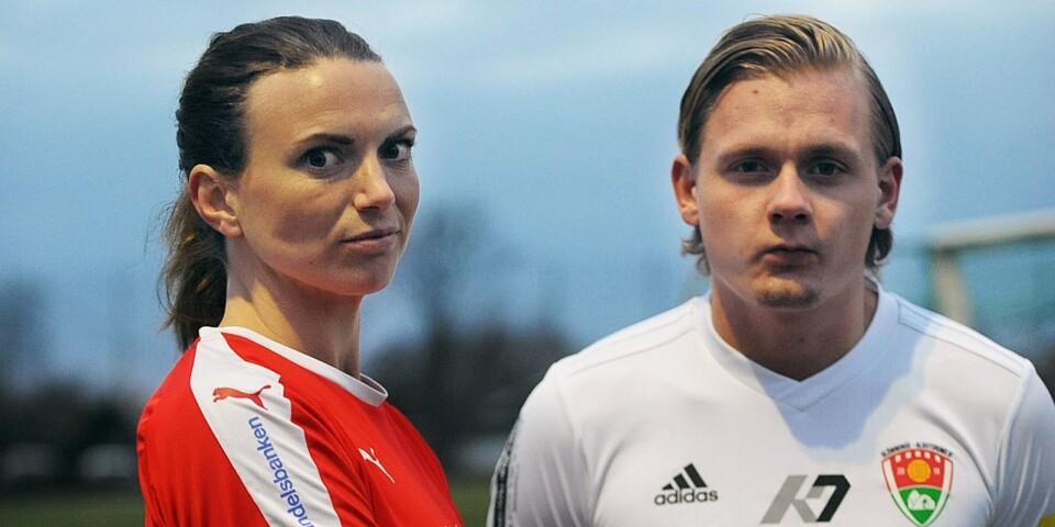Elin Olofsson och Jesper Nilsén pryder omslaget av Fotbollsbladet 2019. FGoIF-kaptenen Olofsson och GAIF-nyförvärvet Nilsén hittas också i två av många reportage.