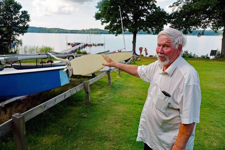 """""""För en liten förening som vår fick det här stor betydelse"""", Arne Ekberg, verksamhetsansvarig på Marks kajak- och segelklubb,"""