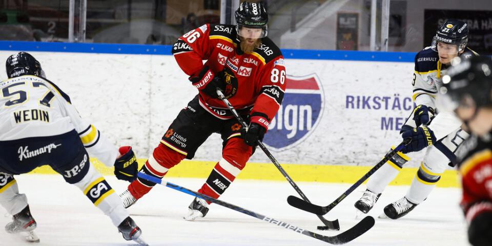 Luleås Linus Klasen gjorde ett av målen i 3–2-segern borta mot Linköping. Arkivbild.