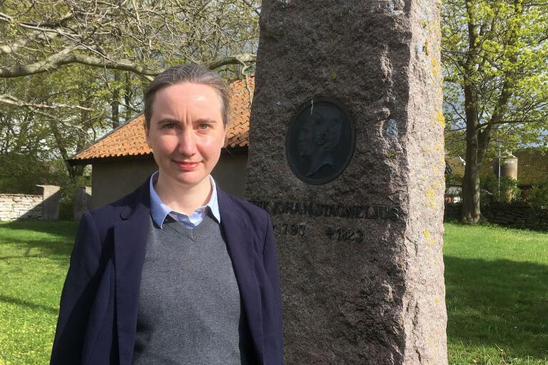 Paula Henrikson, professor i litteraturvetenskap, gästade Gärdslösa prästgård i lördags och föreläste om diktens Stagnelius.