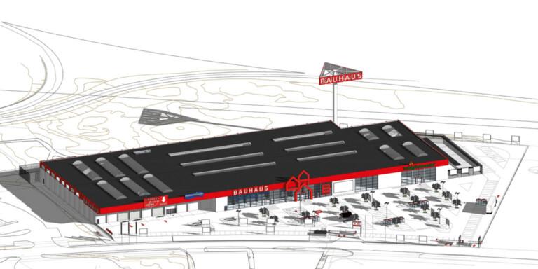 """Bauhaus nya jättevaruhus i Växjö skapar 150 jobb: """"Vi har redan börjat rekrytera"""""""