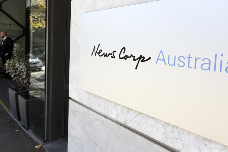 Huvudkontoret för Australiens största medieföretag News Corp. Arkivbild.