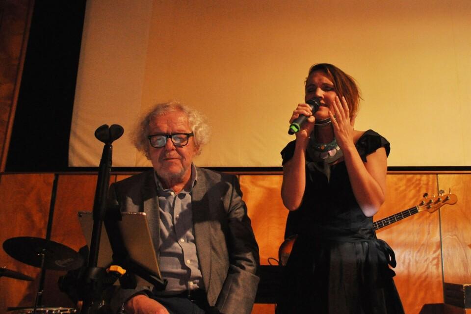 Claes Janson och Nanna Sveinsdóttir sjöng under kvällen en duett.