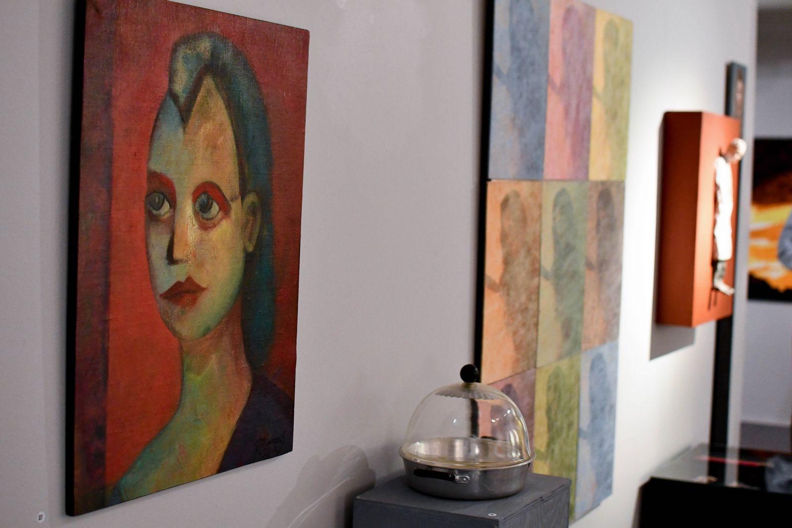 """Tommy Almcrantz är en av konstnärerna bakom utställningen """"Då - Nu"""" som visas på Tomelilla konsthall fram till den 1 november."""