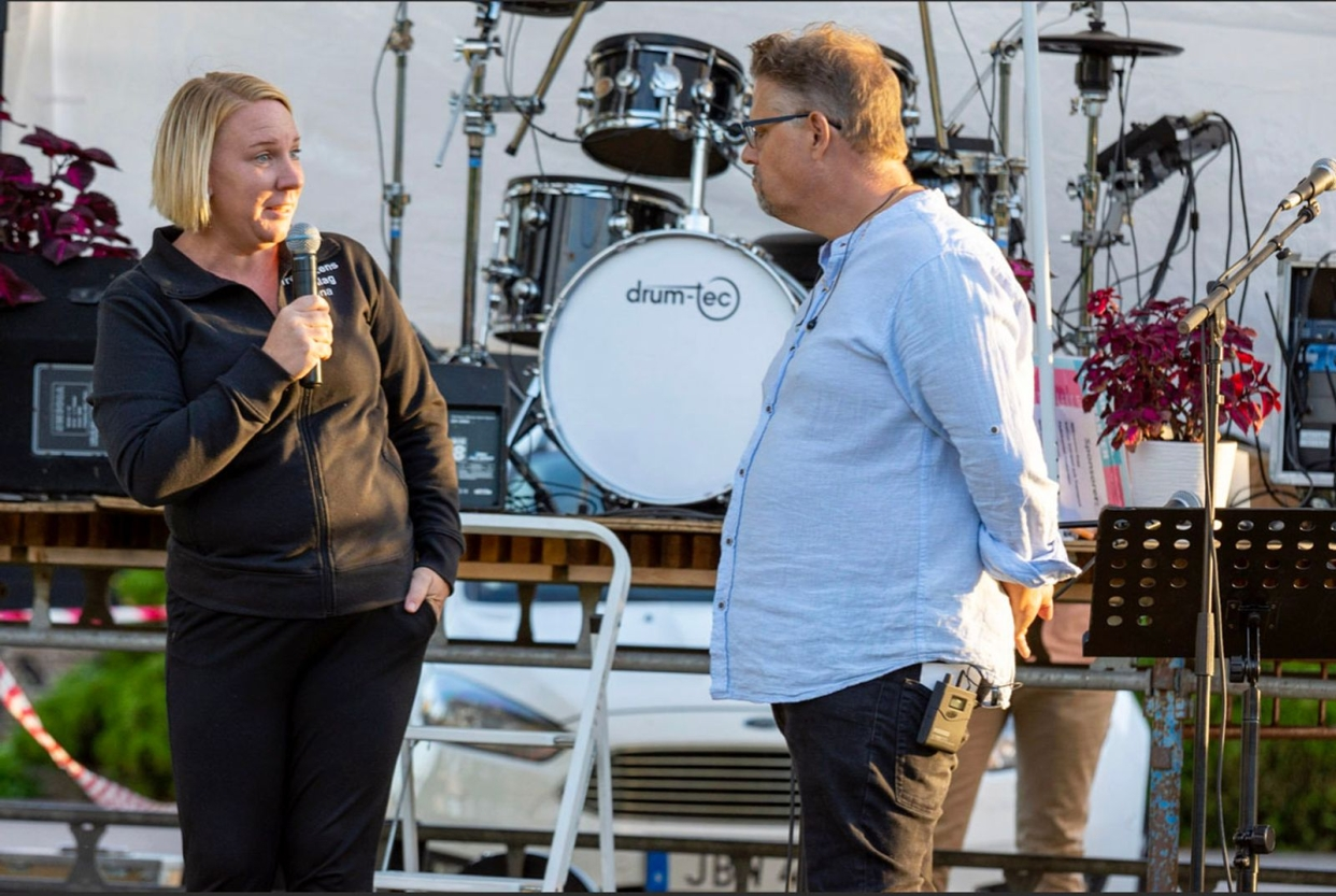 Lina Andersson och Tony Strandberg.