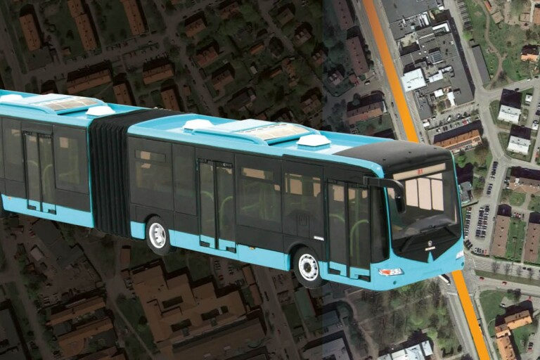 Storbussar i egna filer kan bli framtiden på Norra vägen