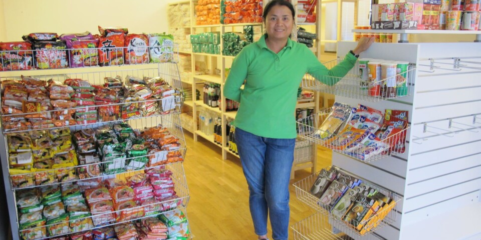 Fhasang Lindell öppnade en asiatisk matbutik i Sölvesborg.
