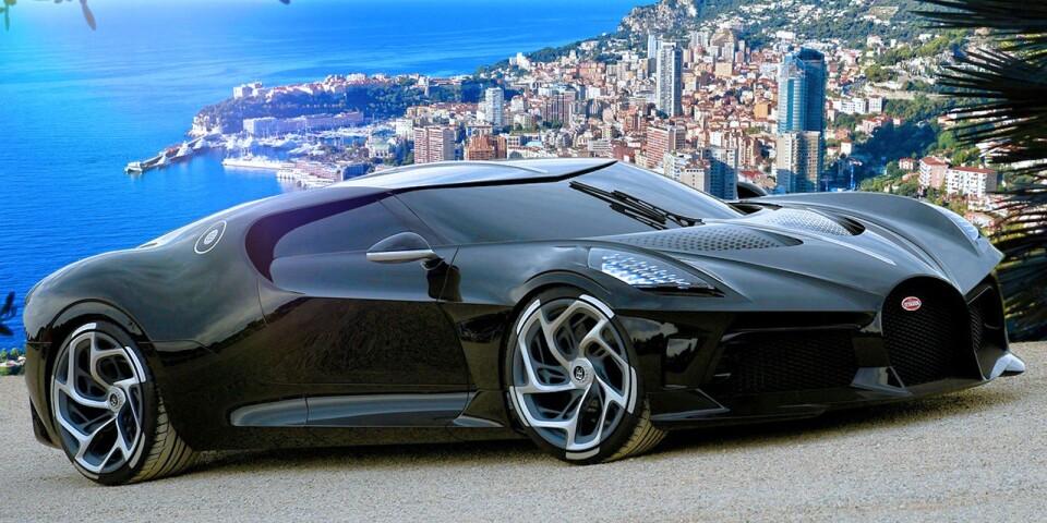 """Bugatti har sedan starten 1909 skapat rullande mästerverk och nya La Voiture Noire är absolut inget undantag. Formgivningen är inspirerad av Ralph Laurens helsvarta Typ 57SC Atlantic från 1938 som experter värderar till 500 miljoner kronor. Bugatti La Voiture Noire ska dock enbart tillverkas i ett enda exemplar och därmed blir prislappen därefter. Skönheten är såld till en anonym kund och under den magnifika kolfiberkarossen arbetar fransosernas 16-cylindriga mittmotor på 1500 hästkrafter som lever upp till Bugattis motto. """"Nothing is too beautiful, nothing is too expensive"""". """""""
