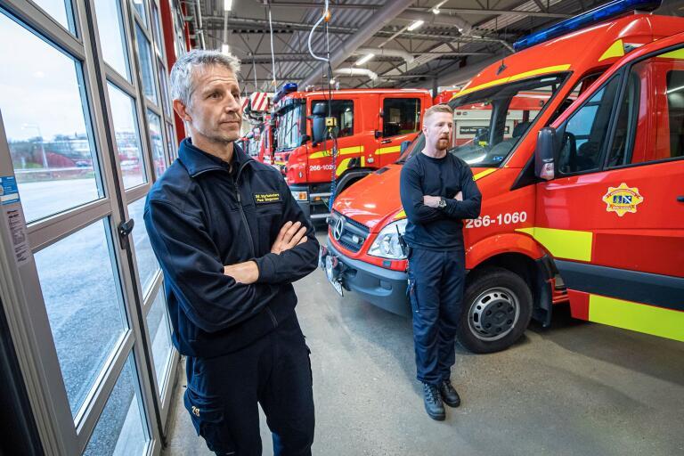 Paul Birgersson och Per Nejd, bägge stf styrkeledare, följer utveckling bland annat i samarbeten med brandmän från hela landet. Nya situationer väntar inte minst med den nybilsteknik som är på väg.
