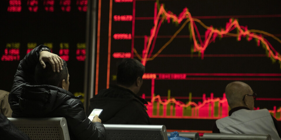Börser i Kina och Japan sjunker. Arkivbild.