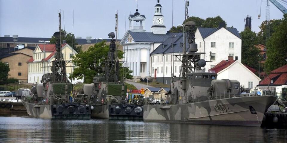 Sveriges marinbas ligger i Karlskrona. MUF vill att Blekinge också ska få en Nato-bas.