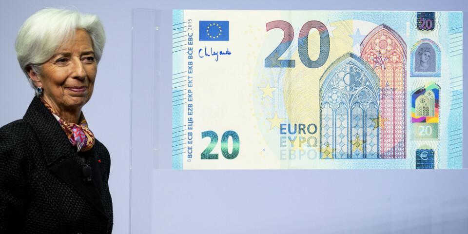 Christine Lagarde har lämnat sitt första räntebesked som chef för Europeiska centralbanken ECB. Arkivbild.