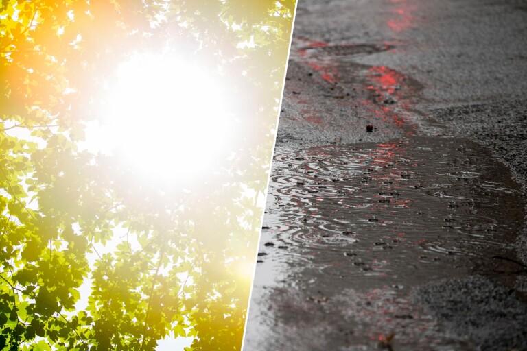 En hel del moln och regn under kommande helg, men det finns solchanser i molnluckorna.