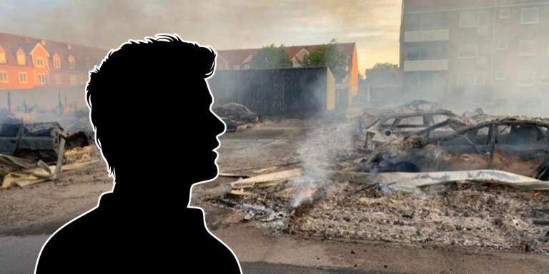 Spontanbesök på Öland slutade med storbrand