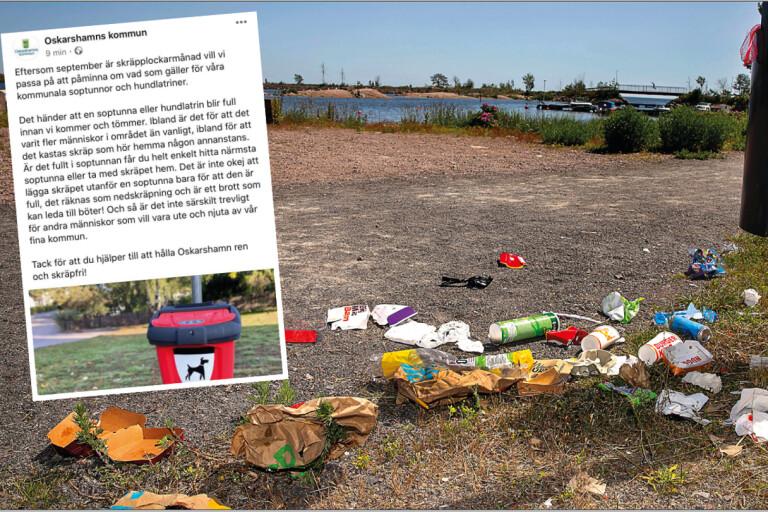 Kommunens vädjan: Ta med skräpet hem – om soptunnan är full