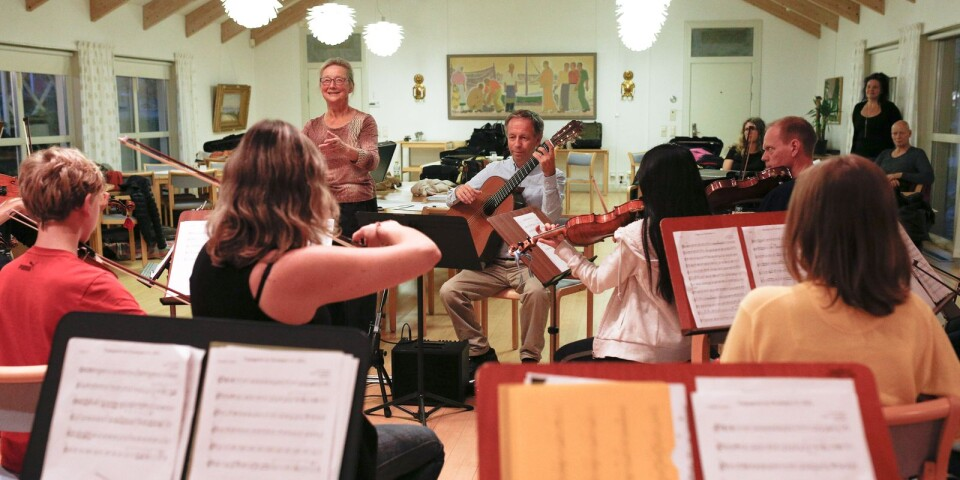 Arkivbild från en repetition tillsammans med orkesterföreningen och kulturskolans elever.