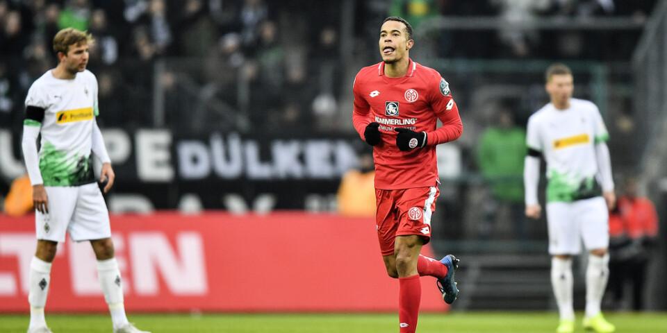 Mainz Robin Quaison gjorde sitt åttonde mål i Bundesliga borta mot Borussia Mönchengladbach.