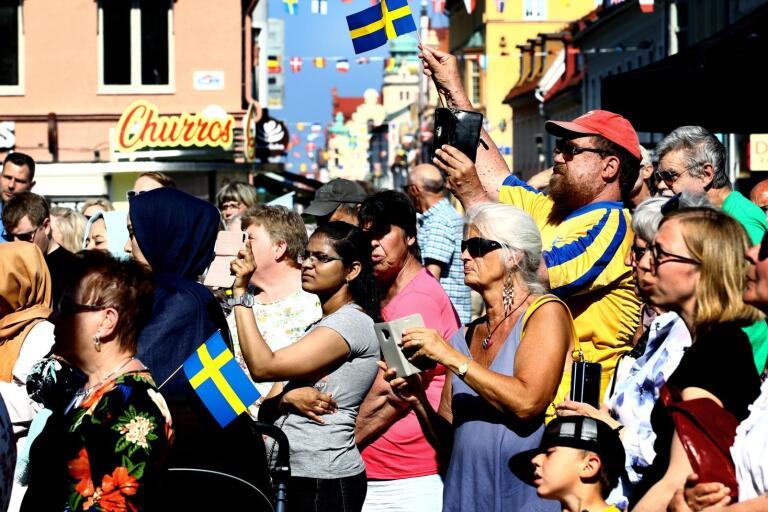 Nationaldagsfirande på Larmtorget.