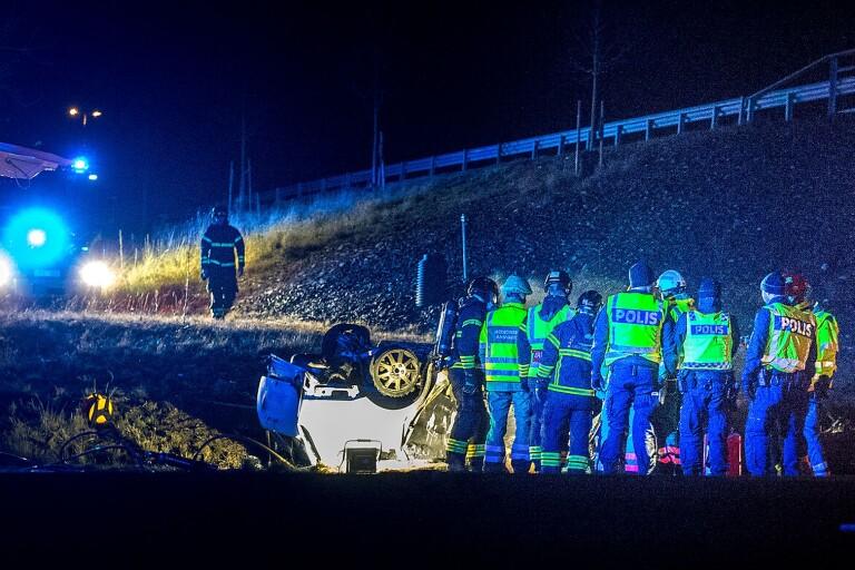Kristianstad: Personbil voltade – en man avled
