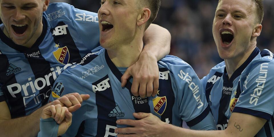 Djurgårdens Fredrik Ulvestad blev hjälte i den händelserika matchen mot Elfsborg.