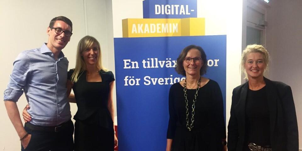 Jonas Wallentin, Ulrika Ek, Catharina Värendh och Anette Kling. Foto: Emma Koivisto