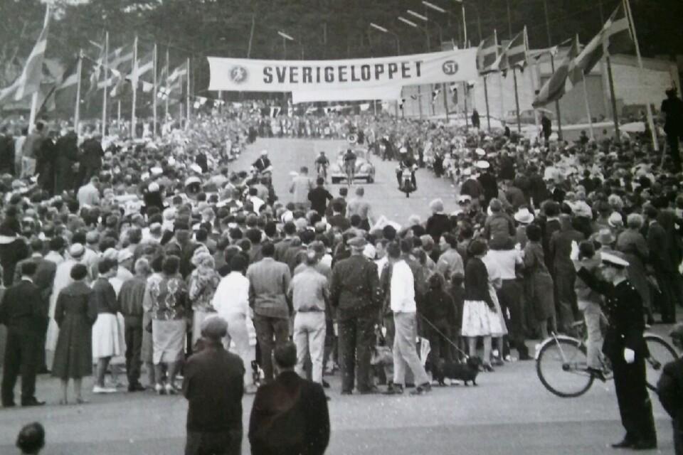 """Så här kunde målgången för Sverigeloppet se ut på """"Stålfarfars"""" tid."""
