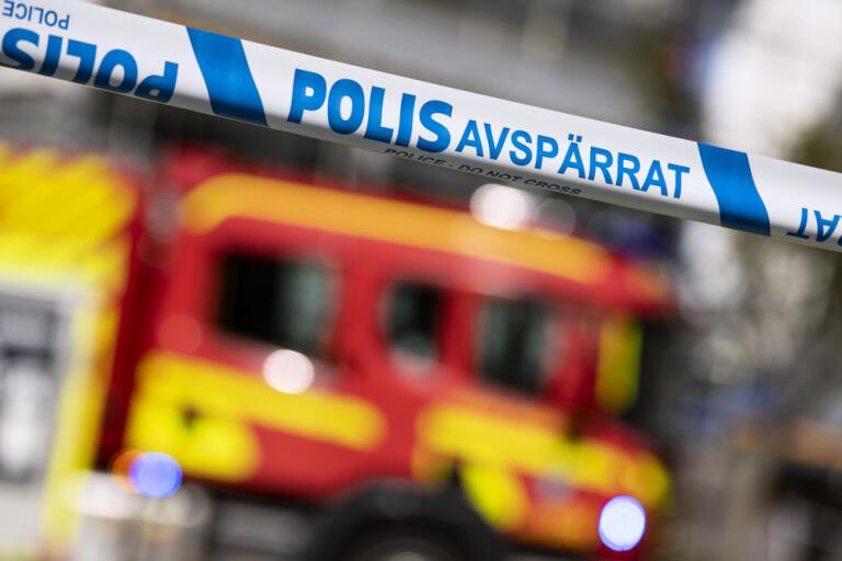Räddningstjänst och polis larmades om en skolbrand i Borlänge på torsdagen. Arkivbild.