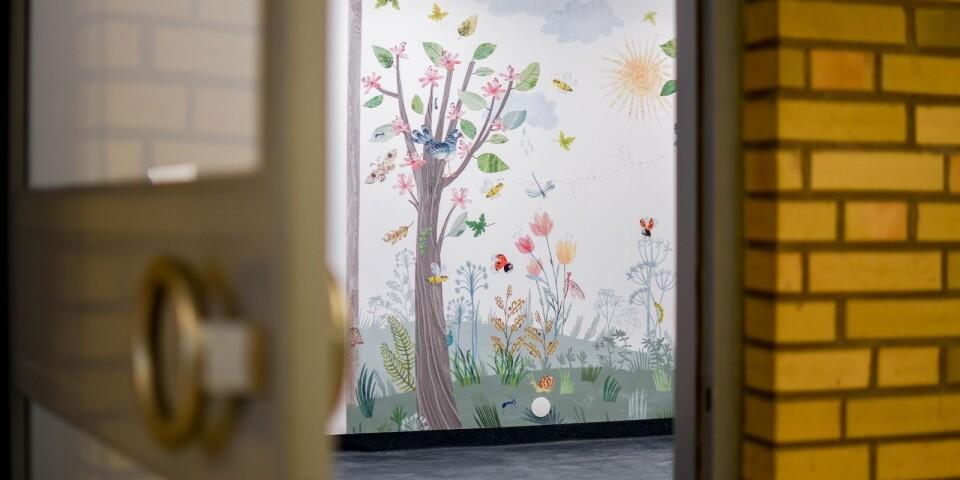 Väntrummet till barnhälsovården nås nu enkelt via sjukhusets foajé.