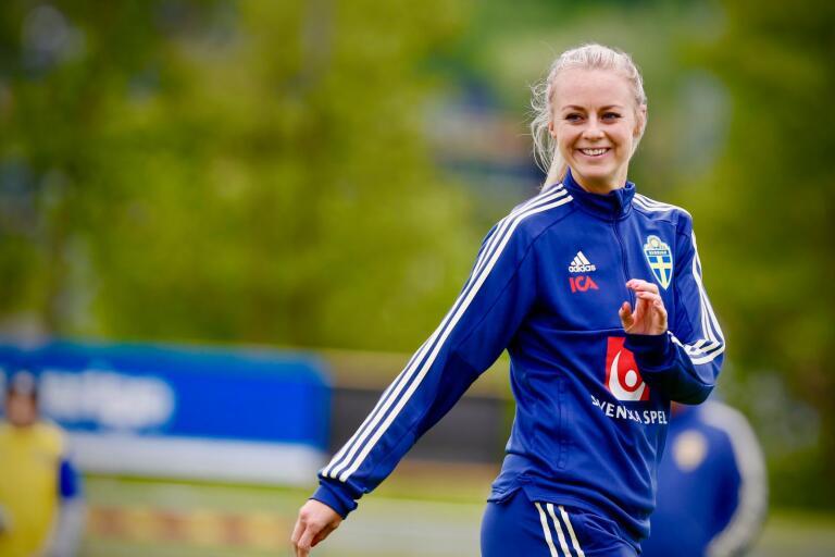 Amanda Ilestedt, landslagsspelare i fotboll.