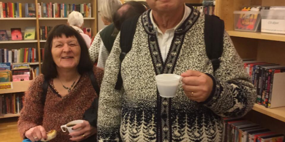 Ann-Kristin och Nils-Åke Sjösten kom från Hanaskog och var två av kvällens besökare. De tyckte att föreläsningen var fantastisk.