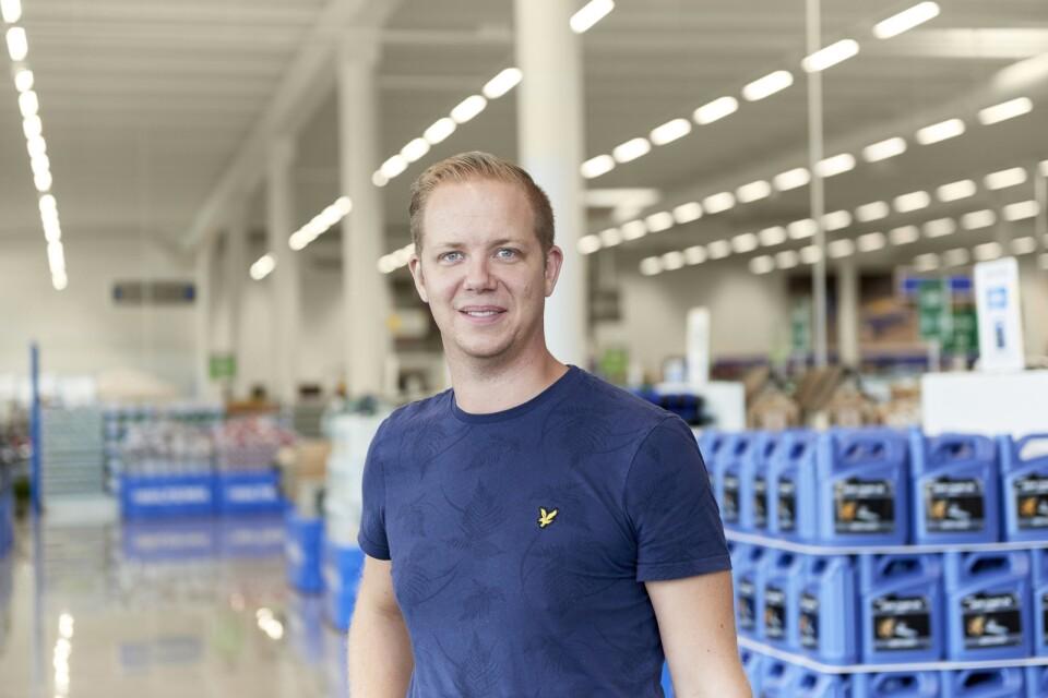 Johan Gerdevåg, marknadschef för Biltema i Sverige. Pressbild.