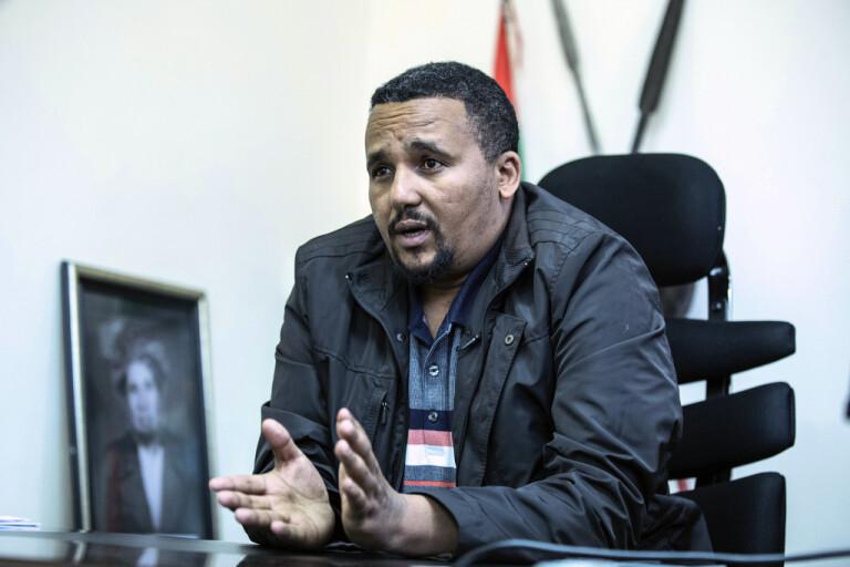 Den etiopiske oppositionspolitikern Jawar Mohammed. Arkivbild.