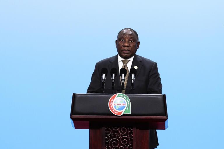 Sydafrikas president Cyril Ramaphosa. Arkivbild.