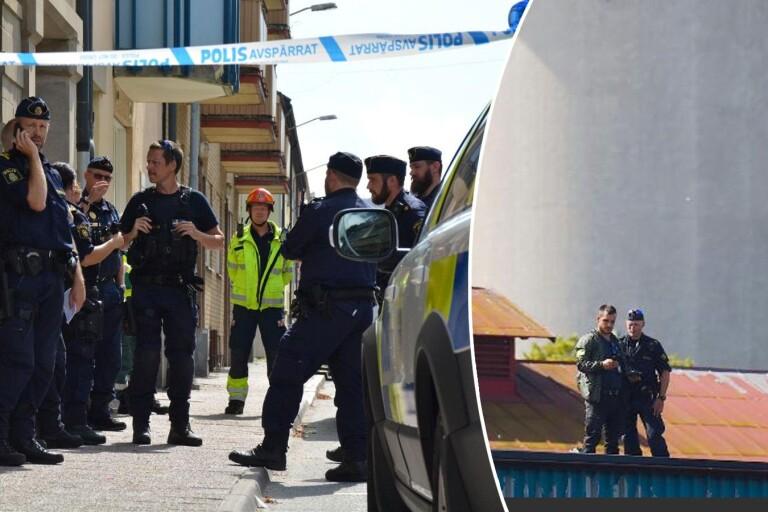 Stor polisinsats efter våldsbrott – barn och polis skadade