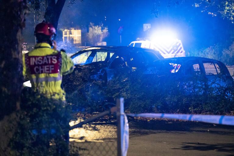 Giftig rök efter bilbrand i Svedala
