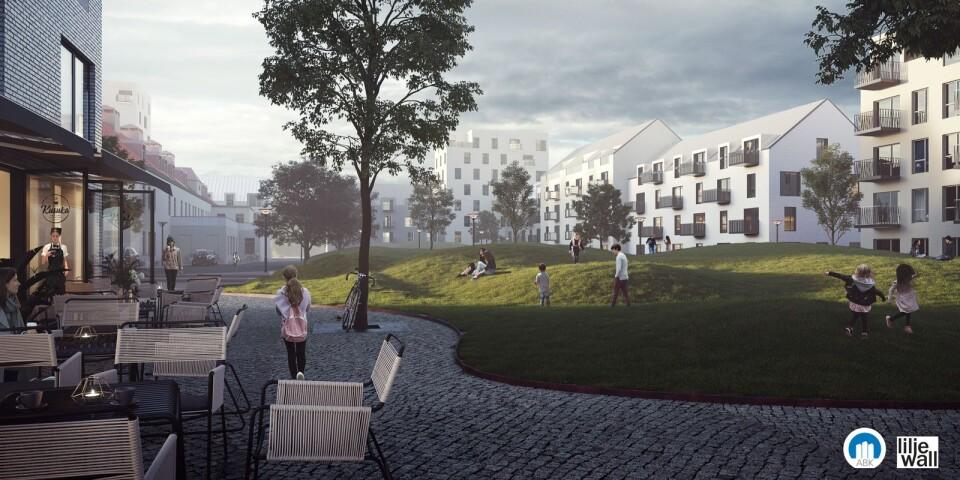 ABK planerar nytt bostadsområde i centrum på Östermalms park.