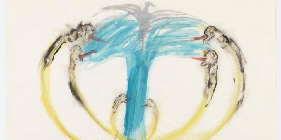 """Nancy Spero: """"Bomb, Dove and Victims"""" (1967)"""