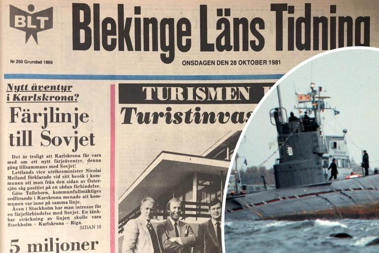 I väntan på sovjetisk färja – ubåt på grund