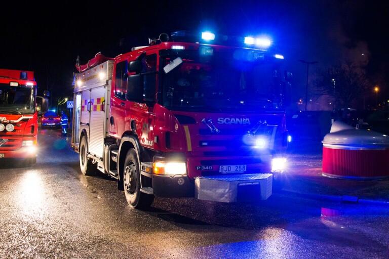 Öland: Brand i lägenhet i natt