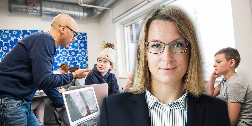 Fler vuxna i klassrummet ökar chanserna till bättre studiero. Personerna på bilden har inget direkt samband med texten.