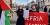 """Manifestation: """"Vi vill visa solidaritet"""""""