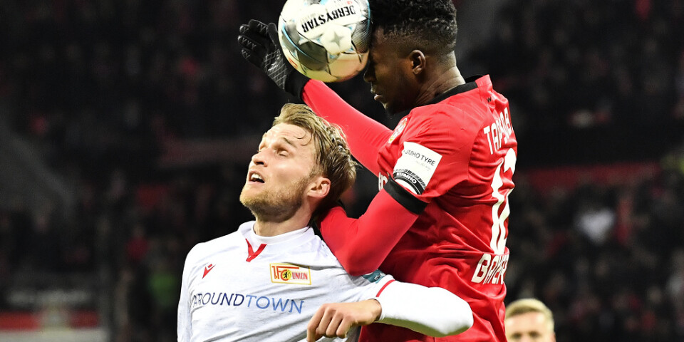 Sebastian Andersson, i vit tröja, debuterade med mål för Köln. Arkivbild.